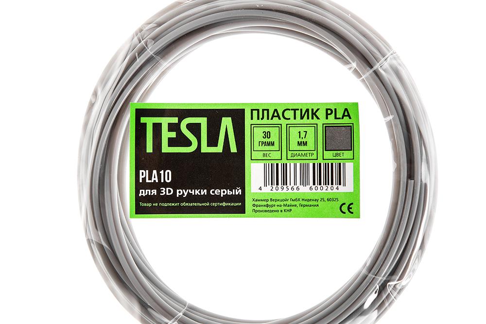 Pla-пластик для 3d ручки Tesla Pla10 серый от 220 Вольт
