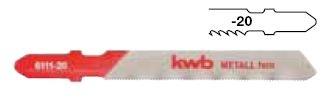 Пилки для лобзика Kwb 6113-20 пилки для лобзика по металлу для прямых пропилов bosch t118a 1 3 мм 5 шт