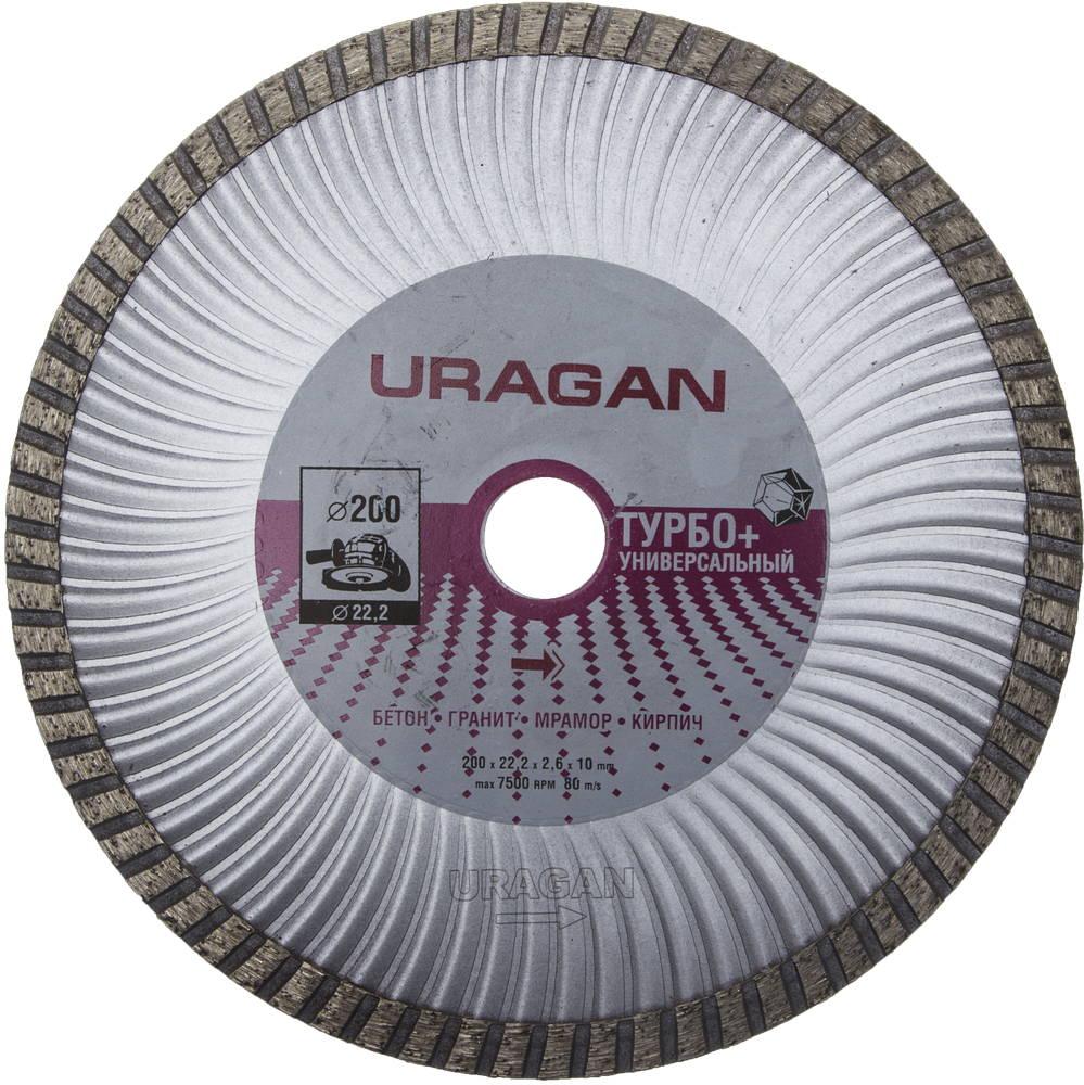 Круг алмазный Uragan 909-12151-200 диск алмазный diam 150х22 2мм master турбо 000160