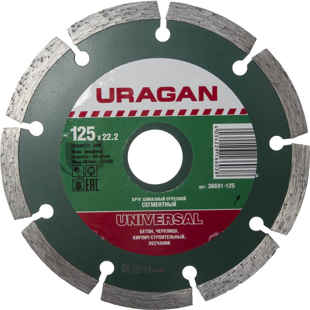 Круг алмазный Uragan 36691-125