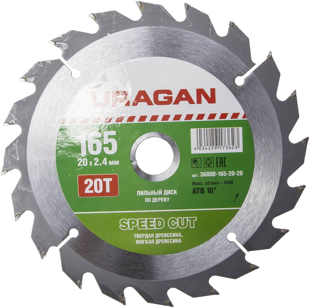 Диск пильный твердосплавный Uragan 36800-165-20-20