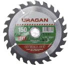 Диск пильный твердосплавный URAGAN 36801-150-20-24