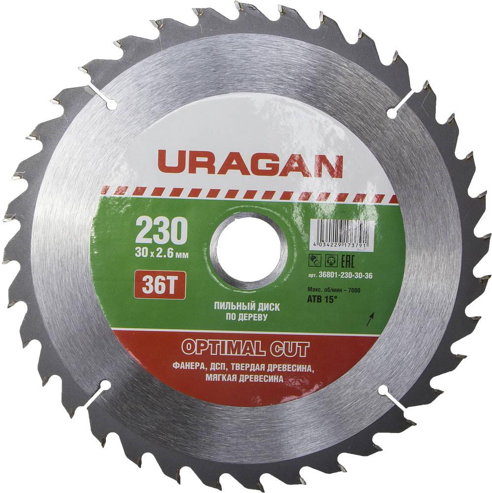 Диск пильный твердосплавный Uragan 36801-230-30-36