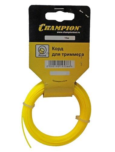 Леска для триммеров Champion Round 1.6мм газонокосилка бензиновая champion lm5127bs