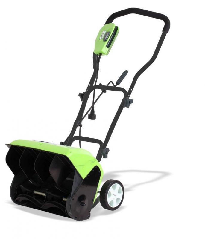 купить Снегоуборщик электрический Greenworks Ges10 (26037) по цене 10990 рублей
