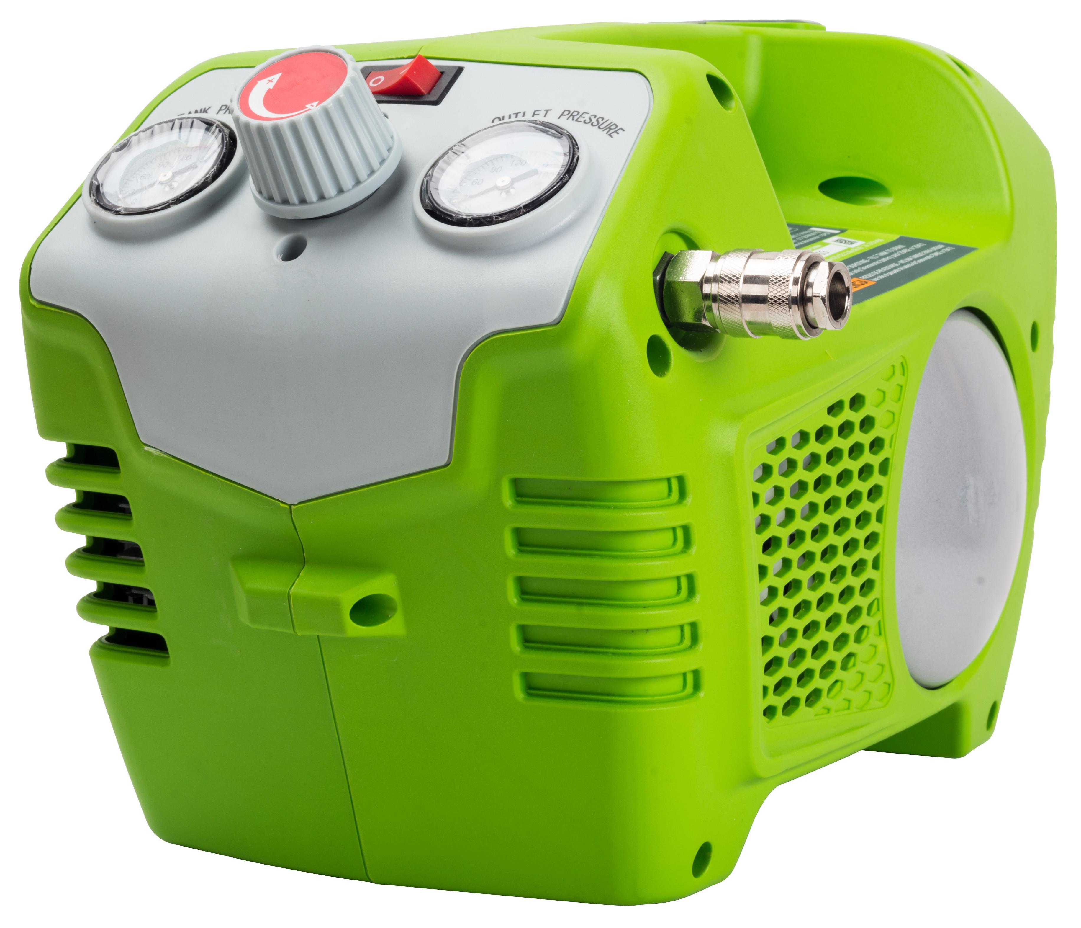 где купить Компрессор Greenworks G40ac (4100802) БЕЗ АККУМ и ЗУ дешево