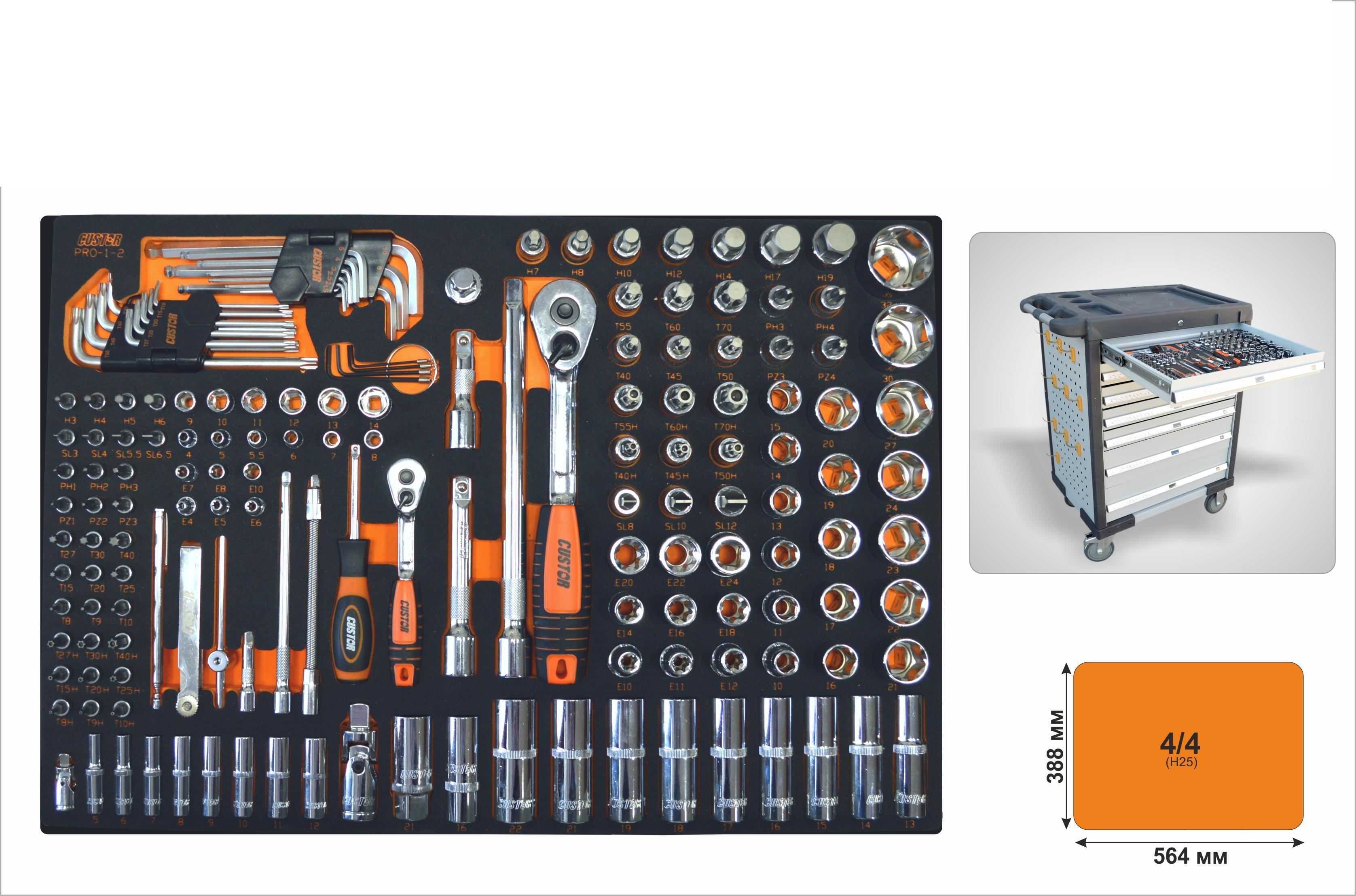 Набор инструментов Custor Pro-1-2 колска 2 в 1 deltim amelis pro 2 в 1 рама короб прогулка голубой жаккард