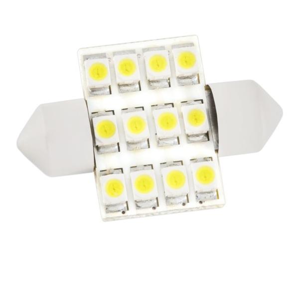 Лампа светодиодная Skyway Sj-12smd-3528-36mm/sj-1210b skyway автолампа диод t11 c5w sj 8smd 5050 39mm sj 0850a