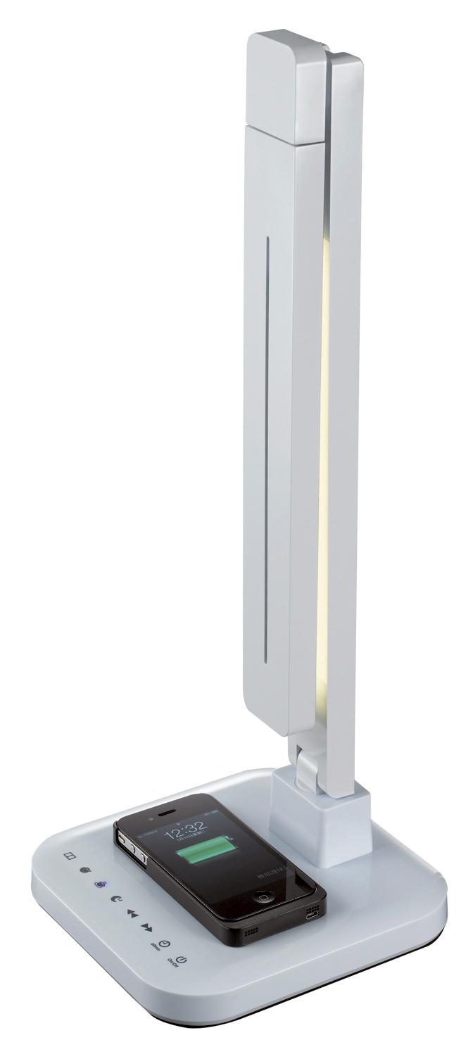 Лампа настольная ЛЮЧИЯ L900 'smart qi' белая лампа настольная лючия l510 taurus светодиодная цвет золотой 7w