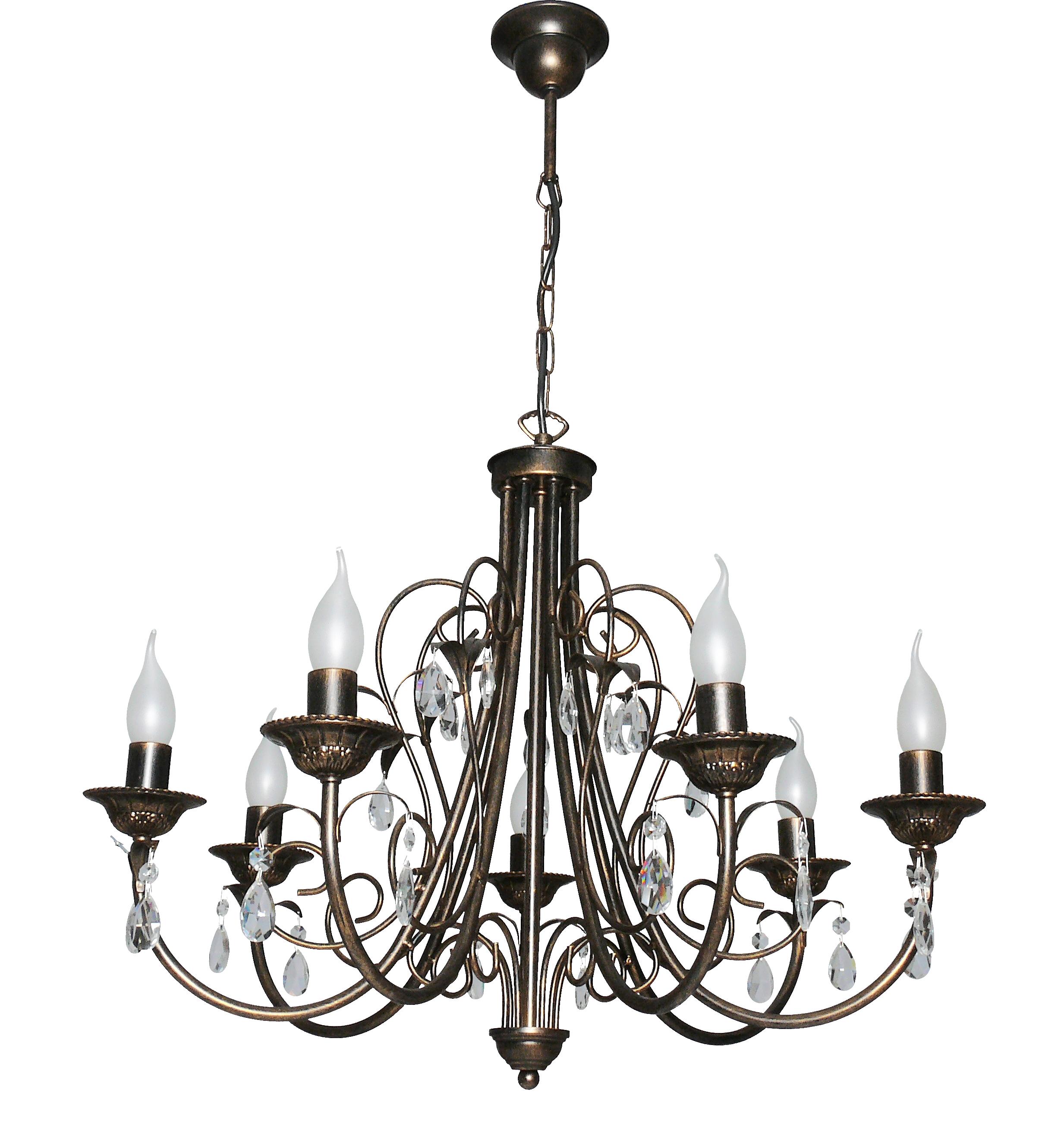 Люстра АВРОРА Муссон 10003-7l люстра lamplandia daria 3х40вт е14 металл темно коричневый