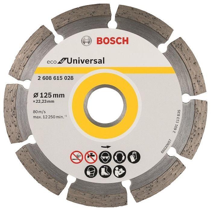 Круг алмазный Bosch Eco universal Ф125-22мм (2.608.615.028) fxcnc universal stunt clutch easy pull cable system motorcycles motocross for yamaha yz250 125 yz80 yz450fx wr250f wr426f wr450