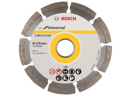 Круг алмазный BOSCH ECO Universal (2608615028) Ф125х22мм универсальный