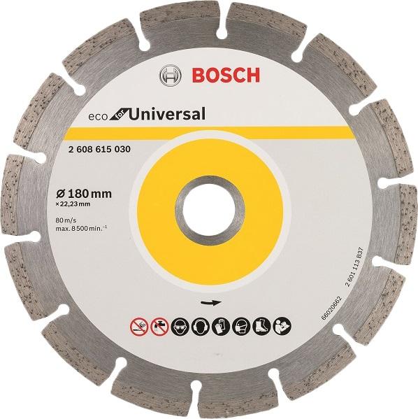 Круг алмазный Bosch Eco universal Ф180-22мм (2.608.615.030) круг алмазный практика 030 740 da 180 22t 180 х 22 турбо