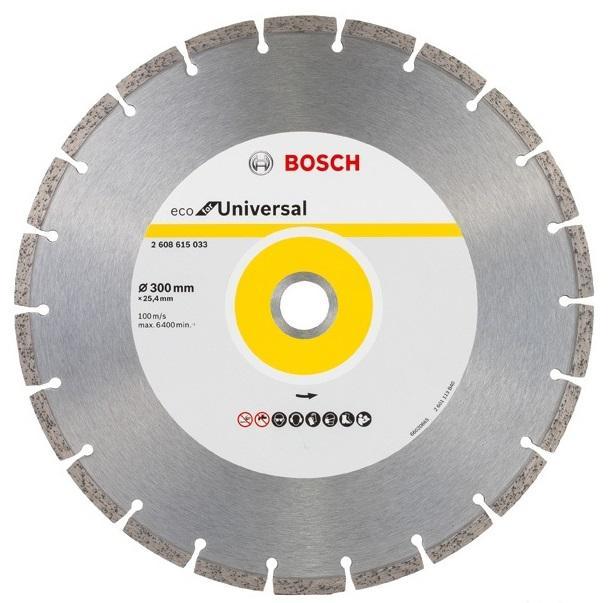 Круг алмазный Bosch Eco universal Ф300-25мм (2.608.615.033) saunier duval themaclassic f 25 turbo