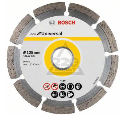 Круг алмазный BOSCH ECO Universal Ф125-22мм 10шт. (2.608.615.041)