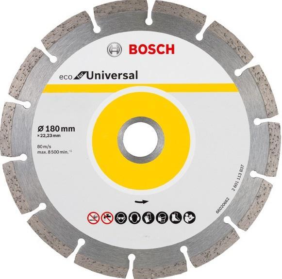 Круг алмазный Bosch Eco universal Ф180-22мм 10шт. (2.608.615.043) алмазный диск bosch 180 22 23 2608602194
