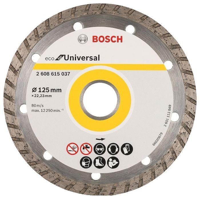 Круг алмазный Bosch Eco universal turbo Ф125-22мм (2.608.615.037) [sa] new original authentic japanese controller fx1s 10mr 001 spot 2pcs lot