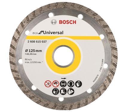 Круг алмазный BOSCH ECO Universal Turbo (2608615037) Ф125х22мм универсальный