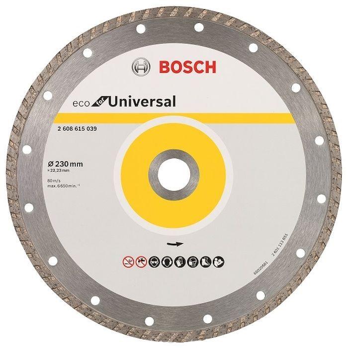 Круг алмазный Bosch Eco universal turbo Ф230-22мм (2.608.615.039) epman universal 3 aluminium air filter turbo intake intercooler piping cold pipe ep af1022 af