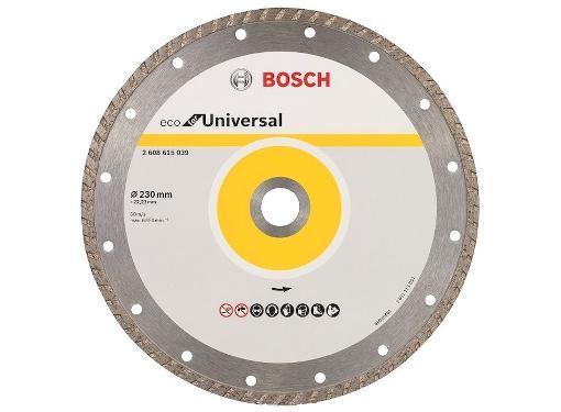 Круг алмазный BOSCH ECO Universal Turbo (2608615039) Ф230х22мм универсальный