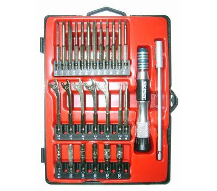 Отвертка  с набором бит для точной механики SKRAB 41688