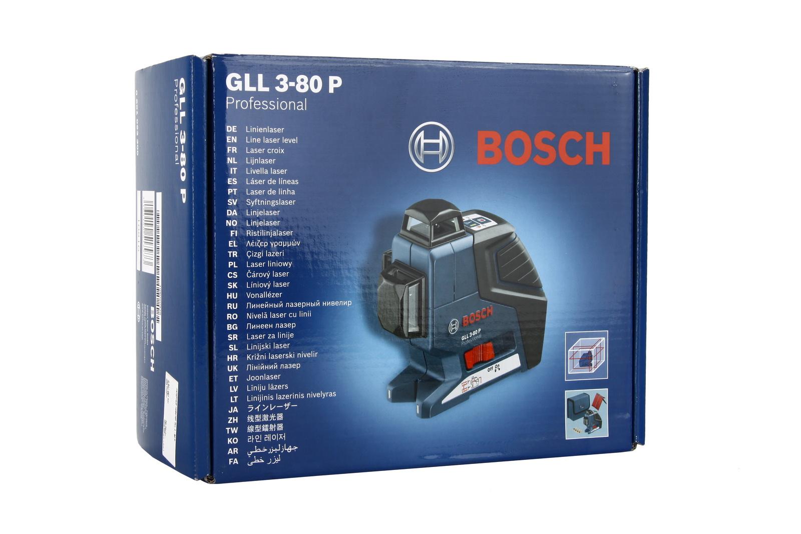 Лазерный построитель плоскостей Bosch Gll 3-80 professional (0.601.063.305)