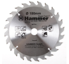 Диск пильный твердосплавный HAMMER 180х20/16мм 24 зуб.