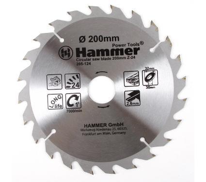 Диск пильный твердосплавный HAMMER Ф200х30мм 24зуб.