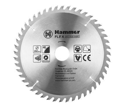 Диск пильный твердосплавный HAMMER Ф200х30мм 48зуб.