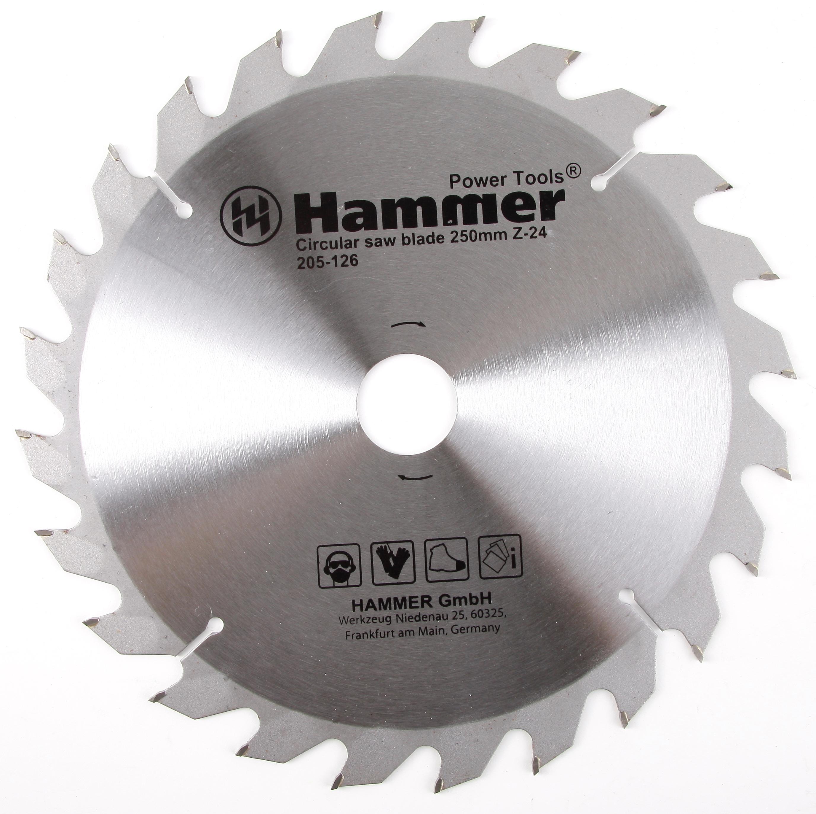 Диск пильный твердосплавный Hammer 250х32/30мм 24 зуб. диск пильный твердосплавный hammer 335х32 30мм 64 зуб