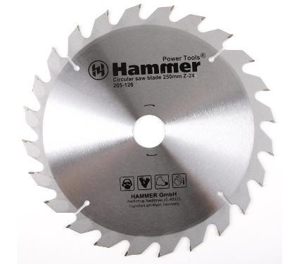 Диск пильный твердосплавный HAMMER Ф250х30мм 24зуб.