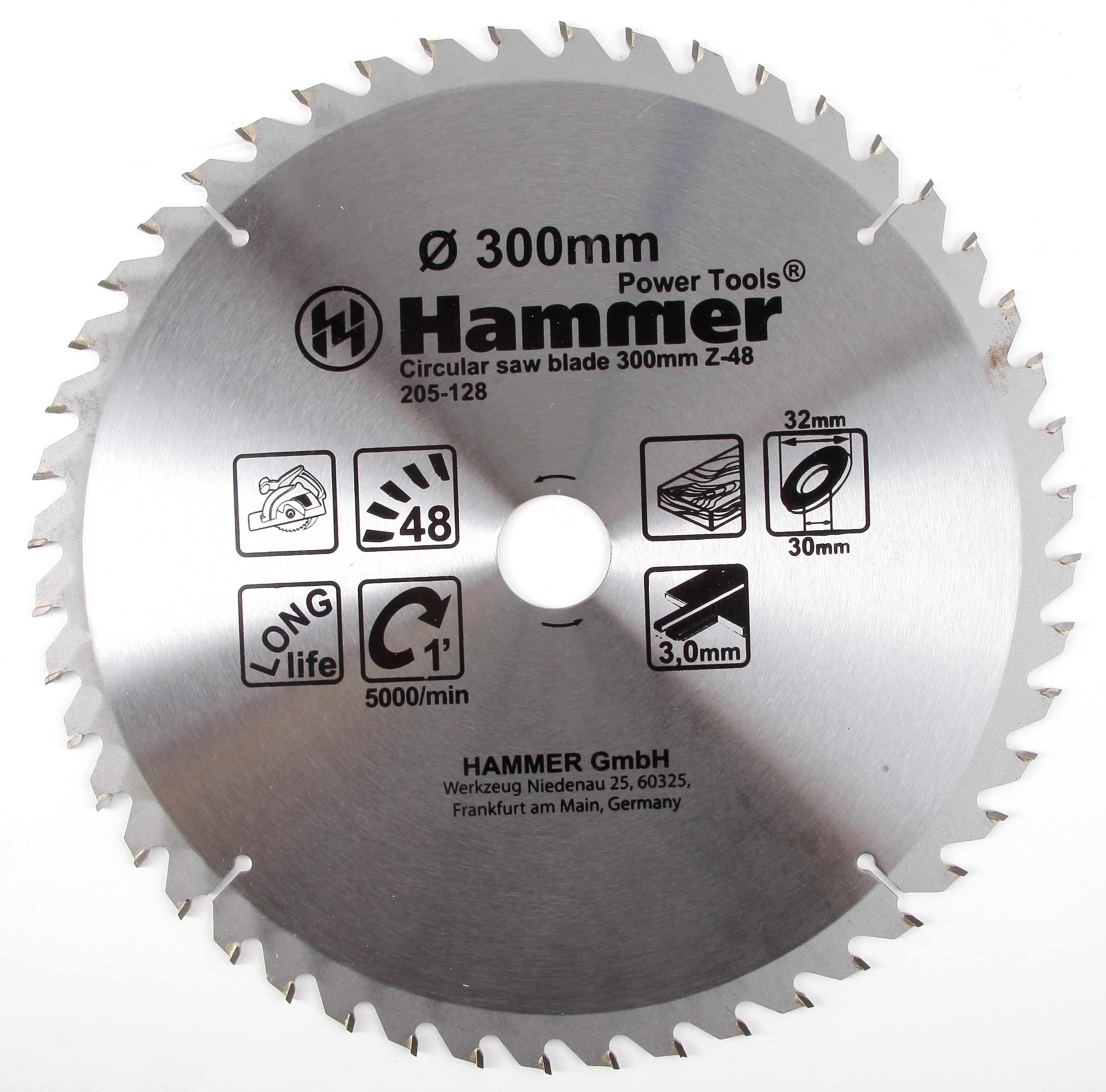 Диск пильный твердосплавный Hammer 300х32/30мм 48 зуб. диск пильный твердосплавный hammer 335х32 30мм 64 зуб