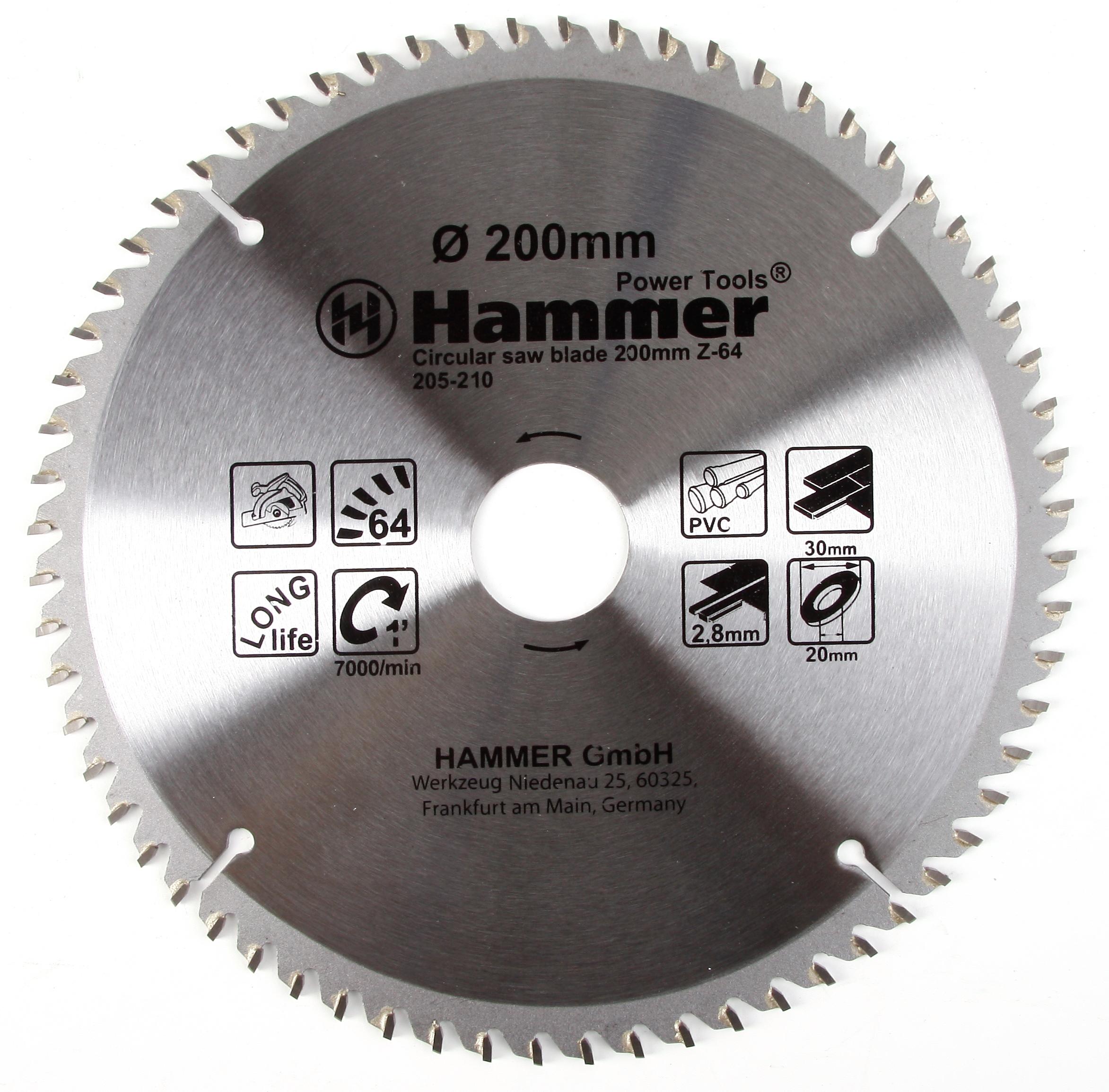 Диск пильный твердосплавный Hammer 200х30/20мм 64 зуб. диск пильный твердосплавный hammer 335х32 30мм 64 зуб