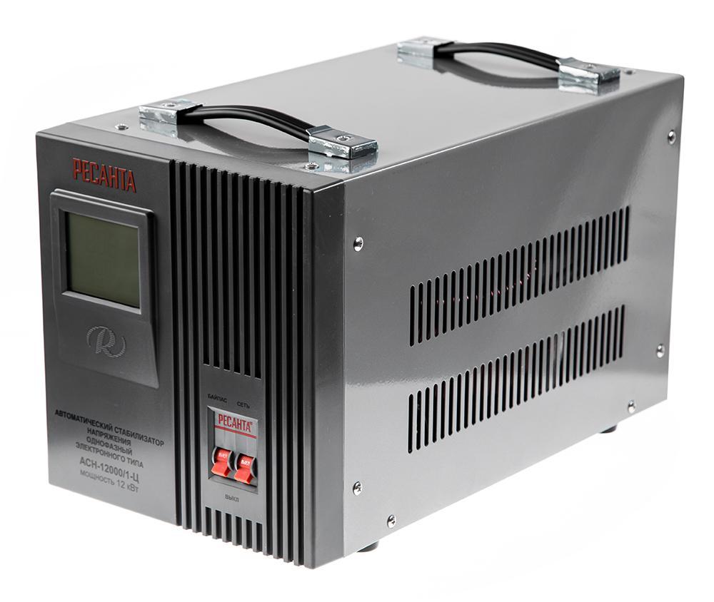 Стабилизатор напряжения РЕСАНТА АСН-12000/1-Ц стабилизатор ресанта асн 12000 н 1 ц