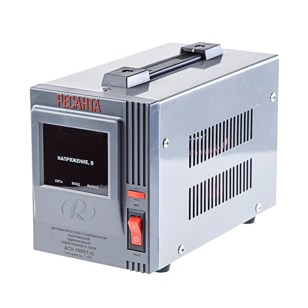 Стабилизатор напряжения РЕСАНТА АСН-1000/1-Ц ресанта асн 120001 ц релейный в москве