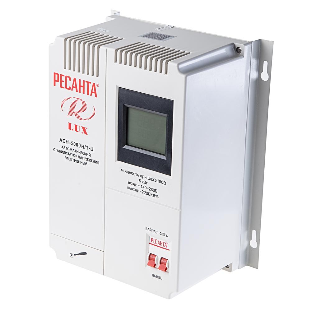 Стабилизатор напряжения РЕСАНТА АСН-5000 Н/1-Ц ресанта асн 120001 ц релейный в москве