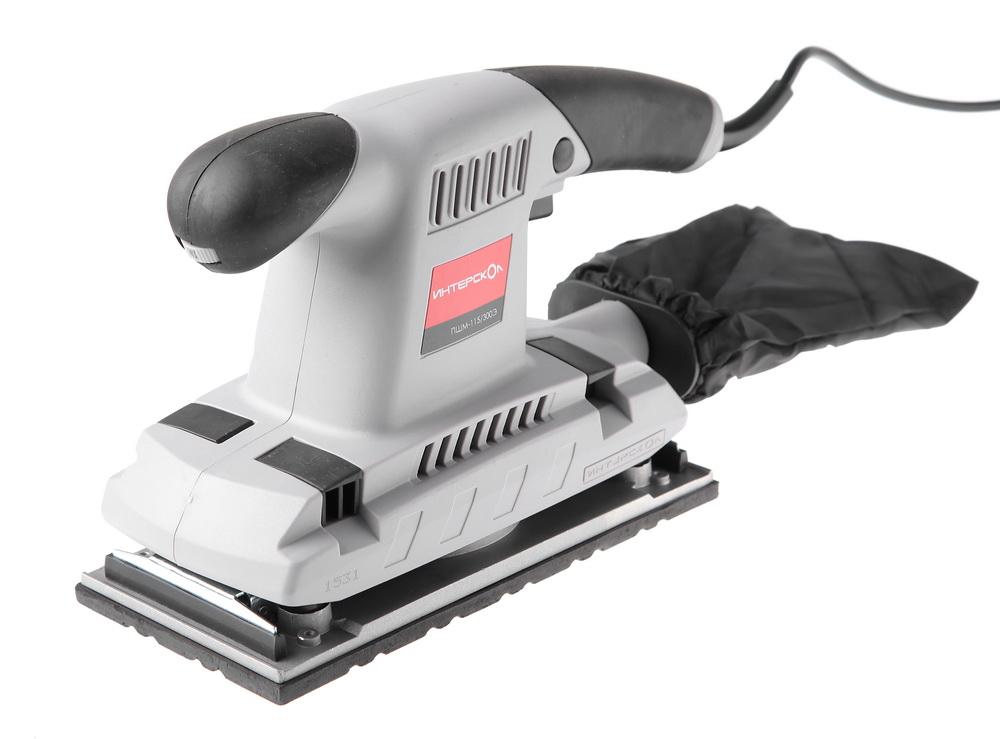 Машинка шлифовальная плоская (вибрационная) ИНТЕРСКОЛ ПШМ-115/300Э (30.1.1.10) шлифовальная машина интерскол пшм 115 300э 30 1 1 10