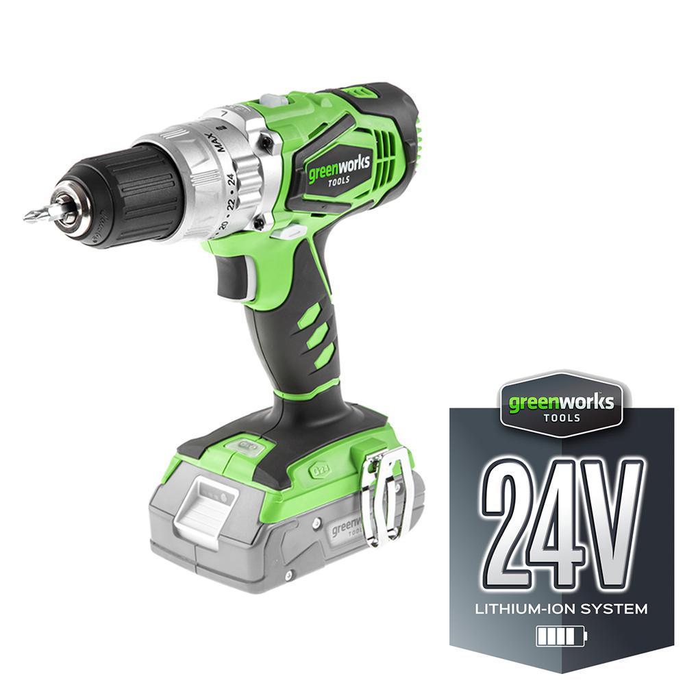 Дрель аккумуляторная Greenworks G24cd (3801107) БЕЗ АККУМ и ЗУ цена