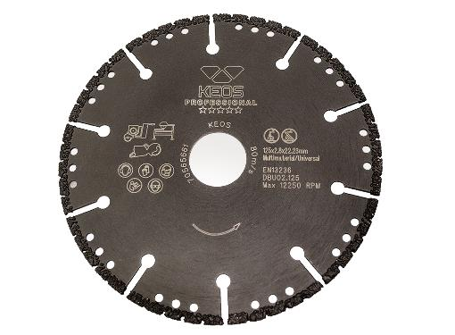 Круг алмазный KEOS (DBU02.125) Ф125х22мм универсальный