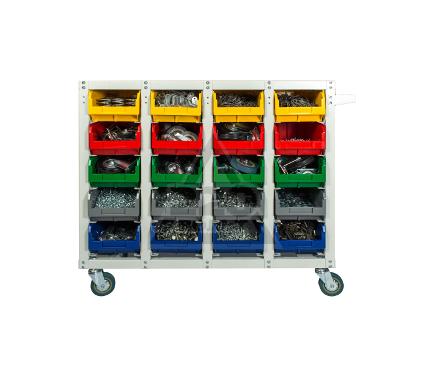 Стеллаж СТЕЛЛА V3-20 ячеек (125И) красный/ зеленый/ желтый/синий/