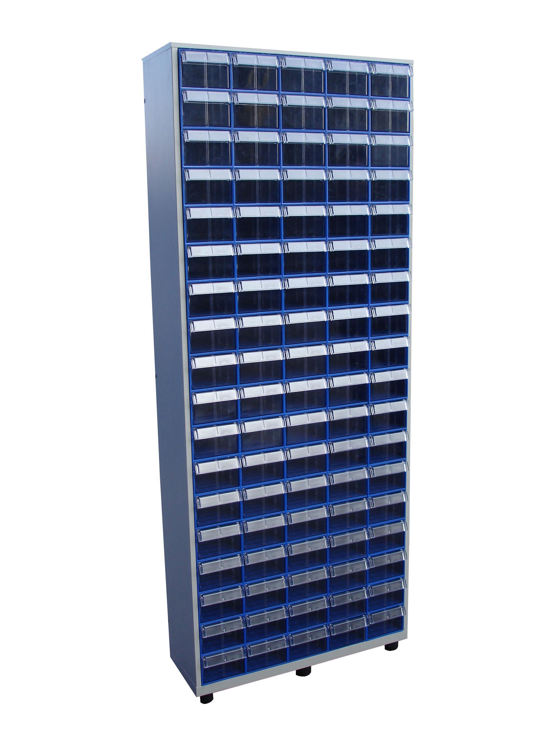 Шкаф СТЕЛЛА С-2-90 синий/прозрачный