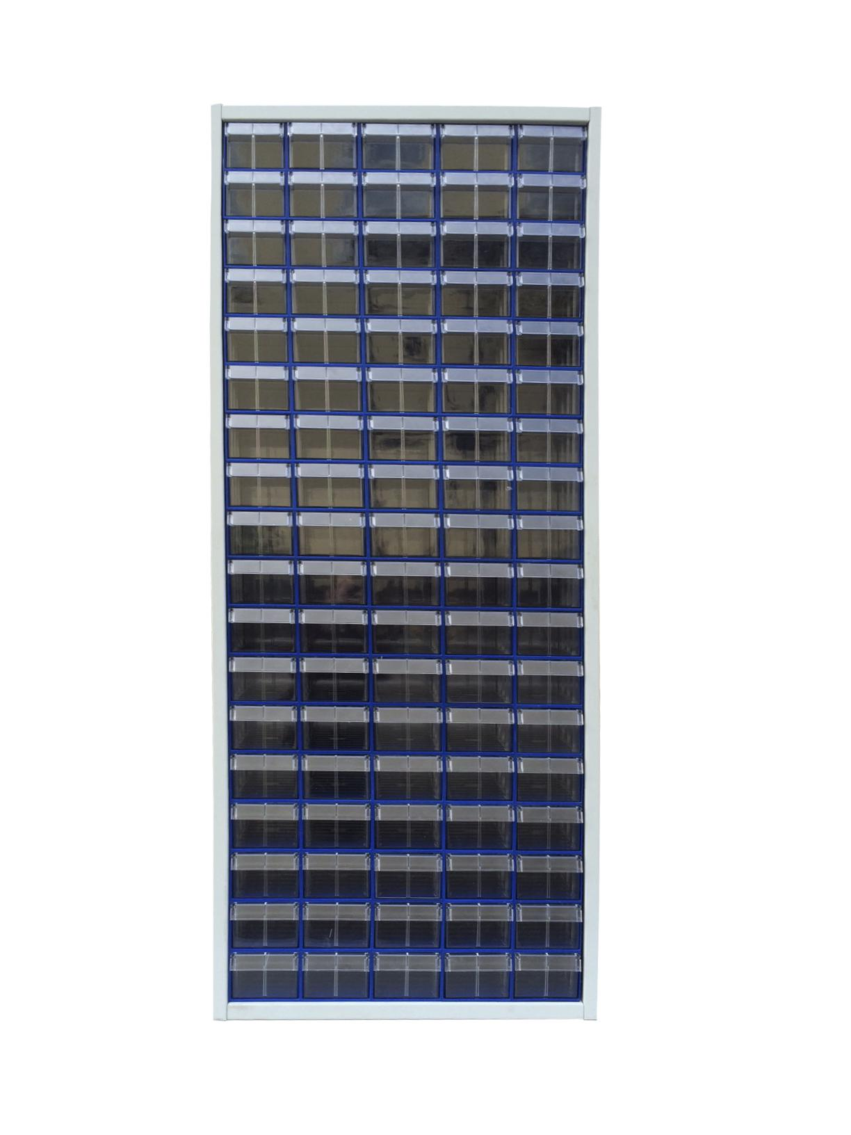 Шкаф СТЕЛЛА С-2-90 металл синий/прозрачный