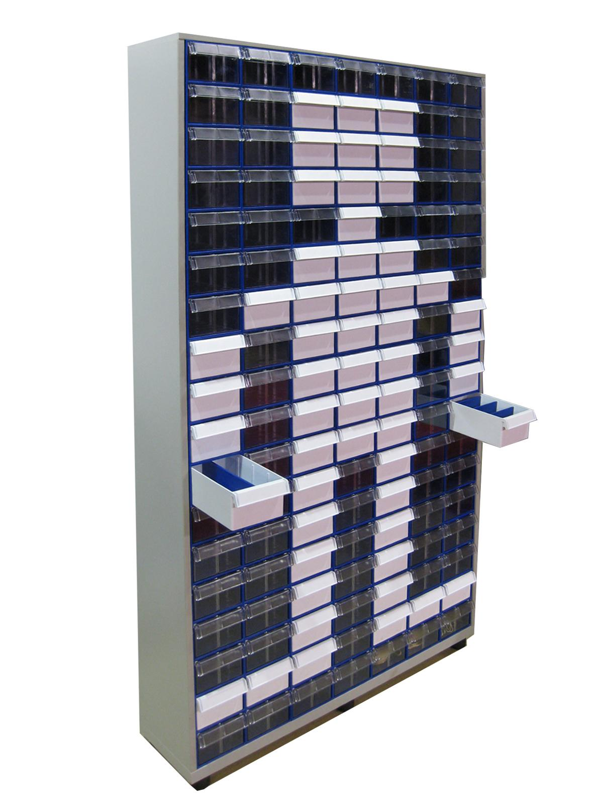 Шкаф СТЕЛЛА С-2-126 синий/прозрачный