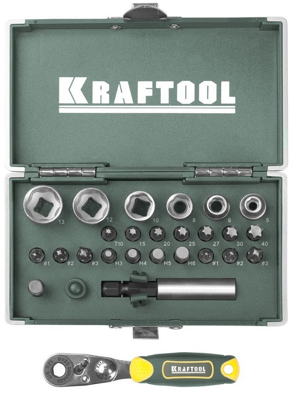 Набор бит Kraftool ЕХpert x-drive 26065-h26 плоская кисть kraftool klassik 1 01013 25