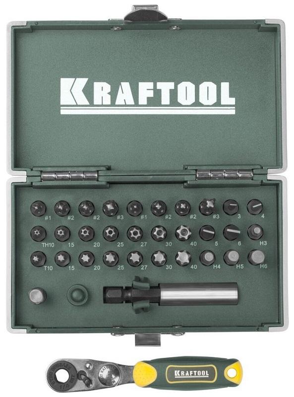 Набор бит Kraftool ЕХpert x-drive 26065-h33 плоская кисть kraftool klassik 1 01013 25