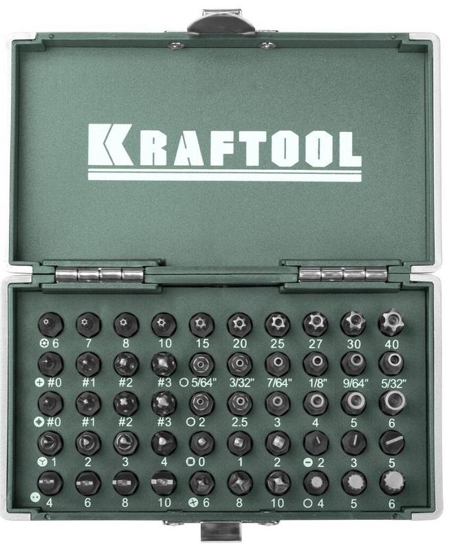 Набор бит Kraftool ЕХpert x-drive 26065-h50 плоская кисть kraftool klassik 1 01013 25