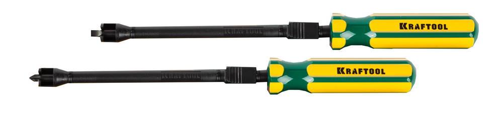 Отвертка Kraftool Expert 26173-h2 с держателем для труднодоступных мест ph2/sl6.5 2шт бита kraftool expert с магнитным держателем ограничителем тип хвостовика e 1 4 ph2 50 мм