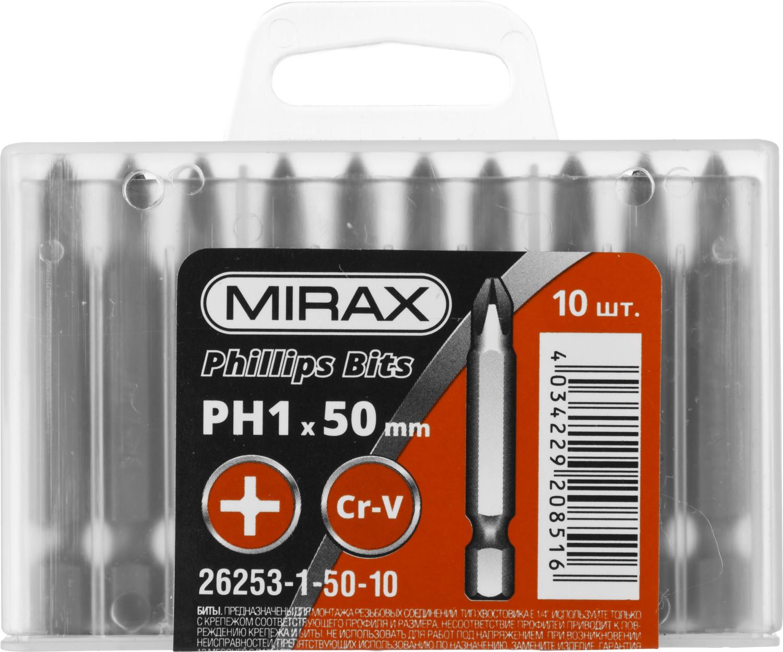 Бита Mirax Ph1 e 1/4'' длина 50мм 10шт электросамокат ezip e 4 5