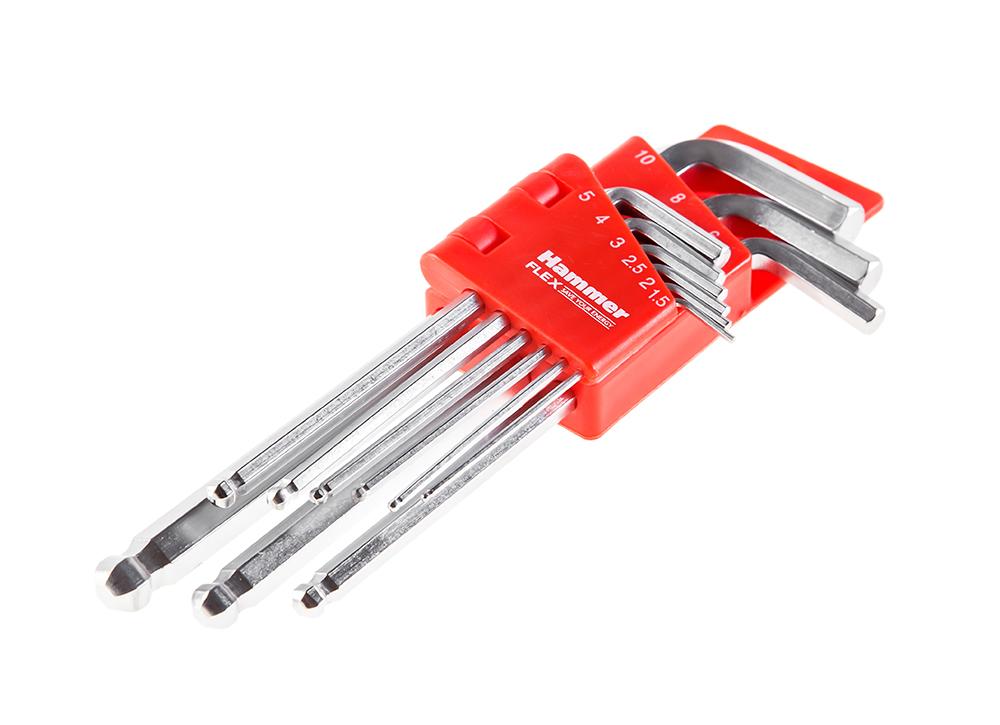 Набор ключей Hammer 601-030 набор метчиков и плашек hammer flex 601 039 12 предметов [400856]