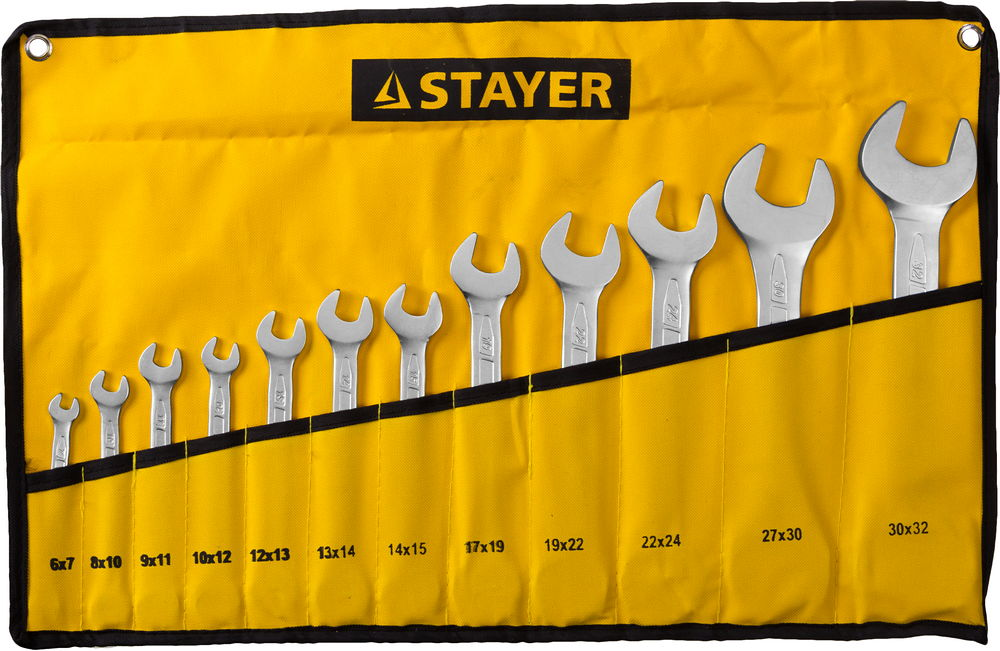 Набор ключей Stayer 27035-h12 (6 - 32 мм) набор ключей трубных stayer 2719 h6